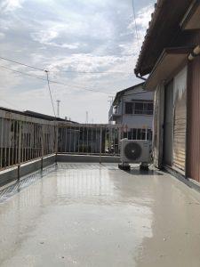 半田市にてバルコニー防水工事